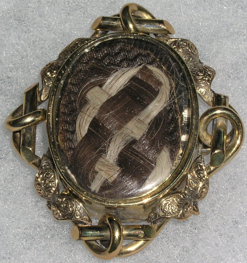 19th Century Human Hair Jewelry